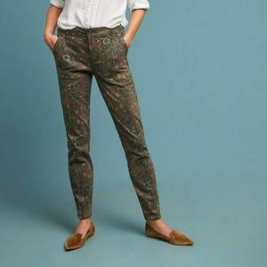 Anthropologie Cadet Slim Utility Printed Pants